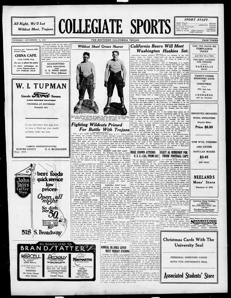 The Southern California Trojan, Vol. 15, No. 22, November 15, 1923