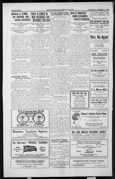 The Southern California Trojan, Vol. 4, No. 11, August 04, 1925