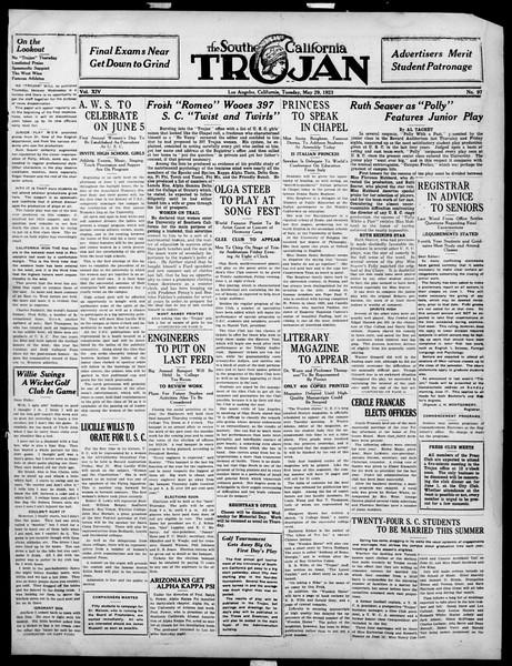 The Southern California Trojan, Vol. 14, No. 97, May 29, 1923