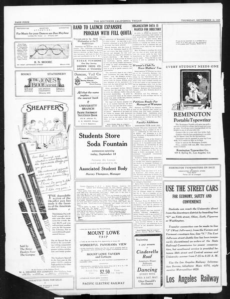 The Southern California Trojan, Vol. 16, No. 1, September 18, 1924