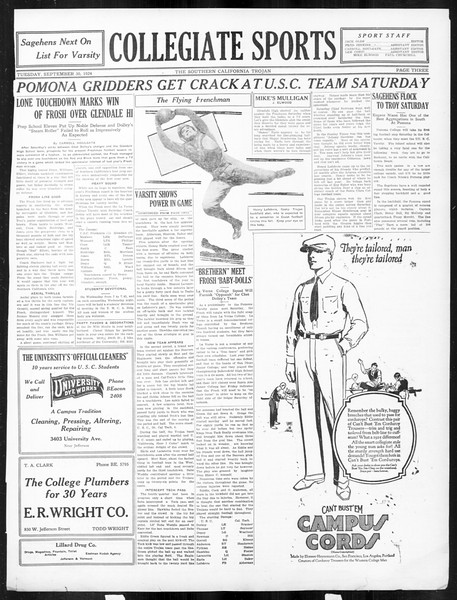 The Southern California Trojan, Vol. 16, No. 5, September 30, 1924