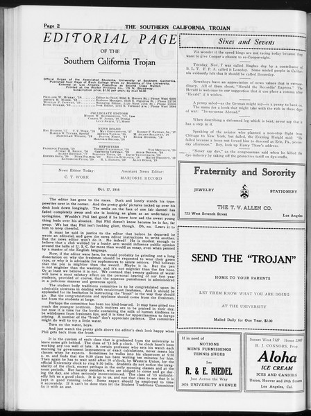 The Southern California Trojan, Vol. 8, No. 34, November 17, 1916