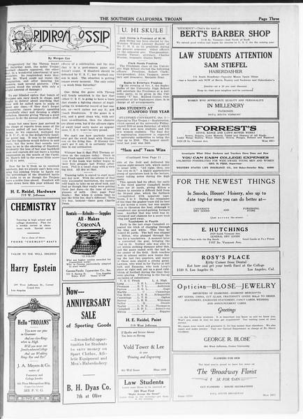 The Southern California Trojan, Vol. 12, No. 6, October 05, 1920