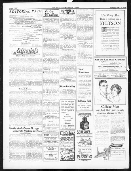 The Southern California Trojan, Vol. 16, No. 11, October 14, 1924
