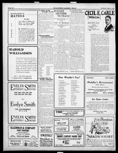 The Southern California Trojan, Vol. 14, No. 88, May 08, 1923