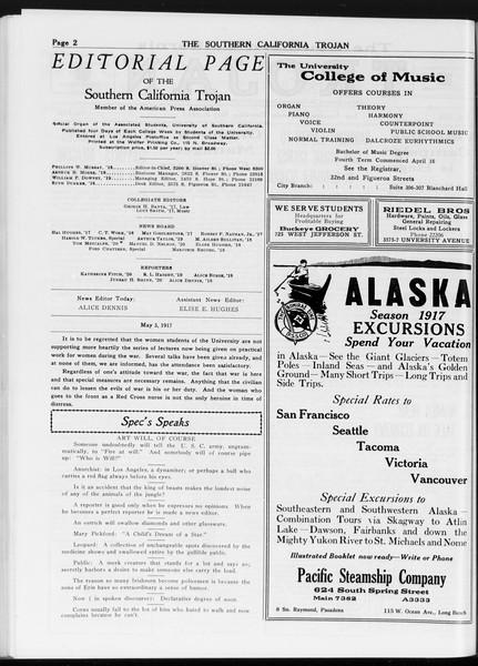 The Southern California Trojan, Vol. 8, No. 106, May 03, 1917