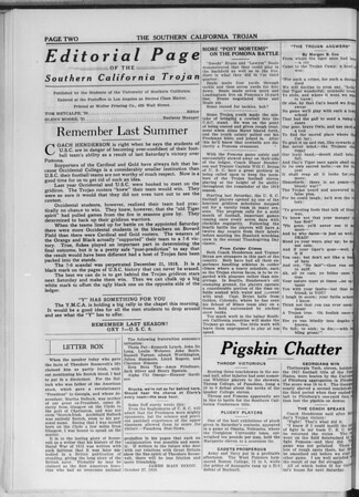The Southern California Trojan, Vol. 11, No. 11, October 29, 1919