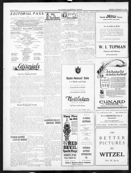 The Southern California Trojan, Vol. 16, No. 41, January 16, 1925