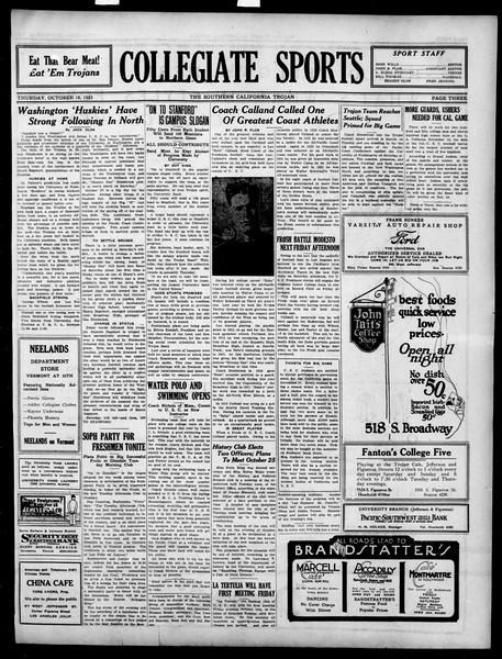 The Southern California Trojan, Vol. 15, No. 11, October 18, 1923
