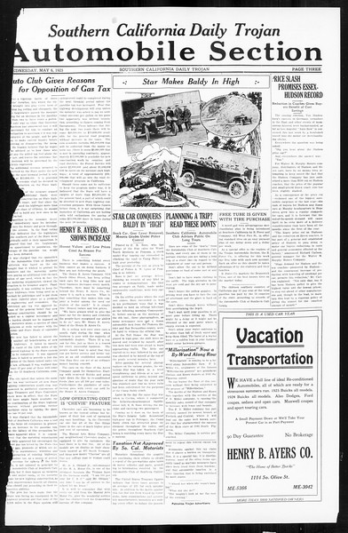 Daily Trojan, Vol. 16, No. 99, May 06, 1925