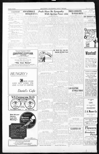 Daily Trojan, Vol. 16, No. 105, May 14, 1925