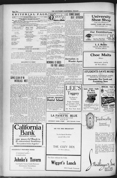 The Southern California Trojan, Vol. 12, No. 62, March 04, 1921