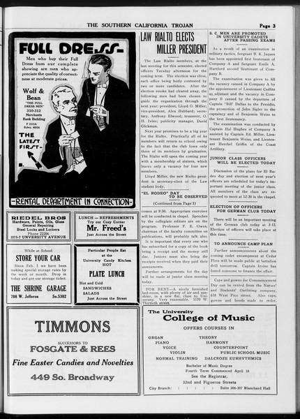 The Southern California Trojan, Vol. 8, No. 114, May 17, 1917