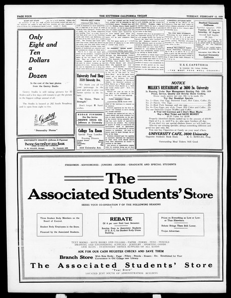 The Southern California Trojan, Vol. 15, No. 49, February 12, 1924