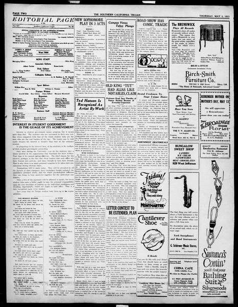 The Southern California Trojan, Vol. 14, No. 86, May 03, 1923