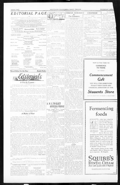 Daily Trojan, Vol. 16, No. 90, April 23, 1925