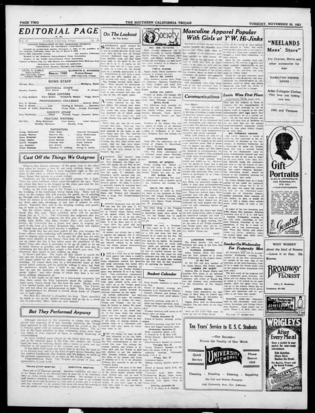 The Southern California Trojan, Vol. 15, No. 24, November 20, 1923