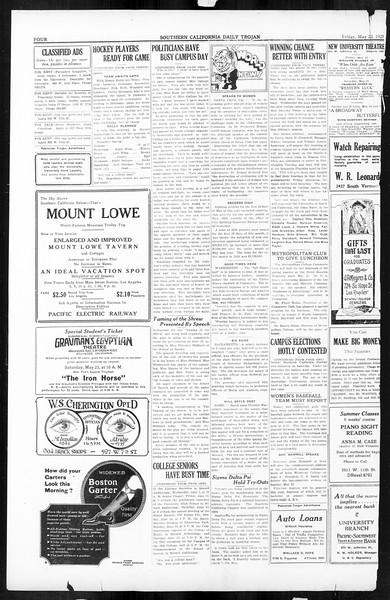 Daily Trojan, Vol. 16, No. 111, May 22, 1925