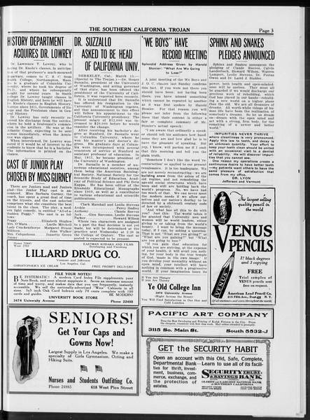 The Southern California Trojan, Vol. 10, No. 8, March 18, 1919