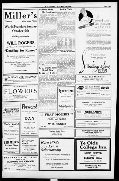 The Southern California Trojan, Vol. 13, No. 7, October 07, 1921