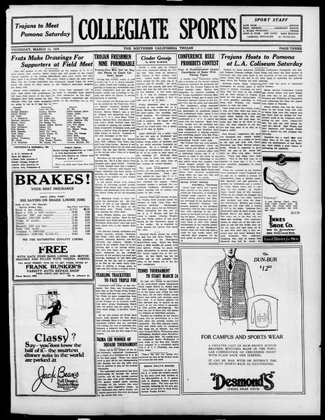 The Southern California Trojan, Vol. 15, No. 61, March 13, 1924