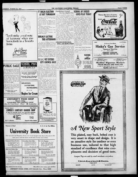 The Southern California Trojan, Vol. 14, No. 70, March 20, 1923