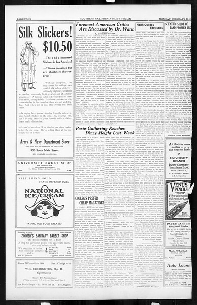 Daily Trojan, Vol. 16, No. 54, February 23, 1925