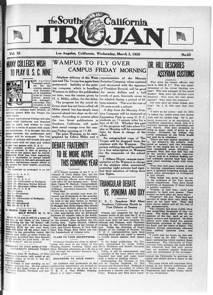 The Southern California Trojan, Vol. 11, No. 63, March 03, 1920