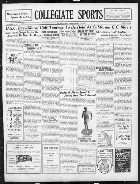 The Southern California Trojan, Vol. 15, No. 78, April 29, 1924