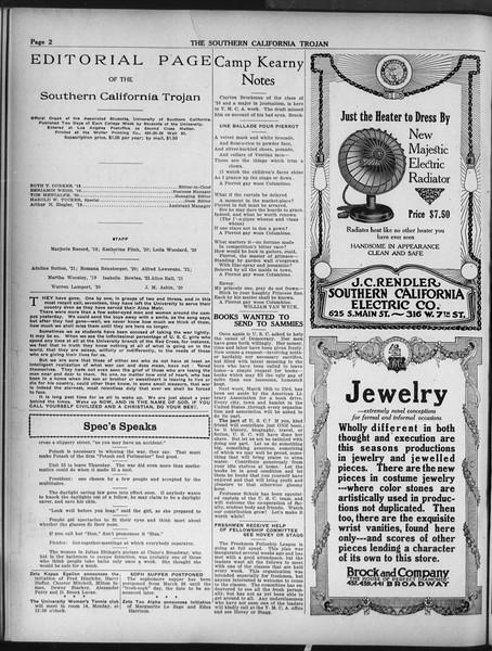 The Southern California Trojan, Vol. 9, No. 34, March 15, 1918