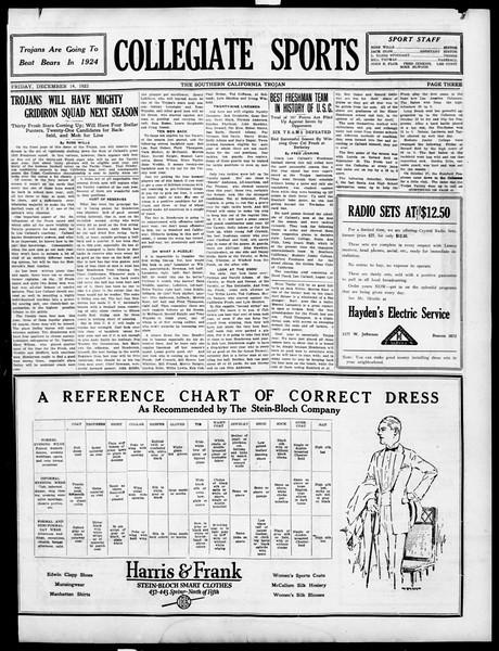 The Southern California Trojan, Vol. 15, No. 33, December 14, 1923