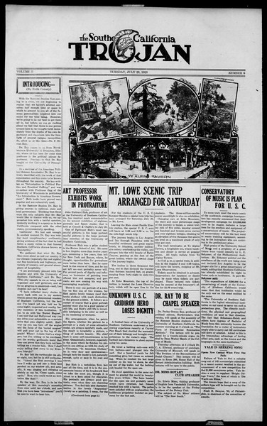 The Southern California Trojan, Vol. 2, No. 6, July 23, 1923