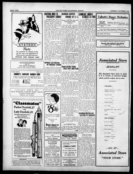 The Southern California Trojan, Vol. 15, No. 7, October 09, 1923