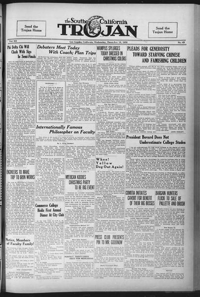 The Southern California Trojan, Vol. 12, No. 43, December 15, 1920