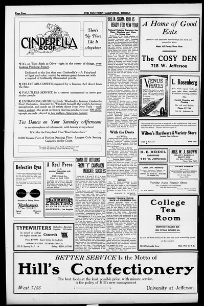 The Southern California Trojan, Vol. 13, No. 9, October 14, 1921