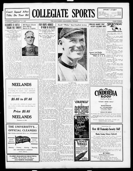 The Southern California Trojan, Vol. 15, No. 49, February 12, 1924