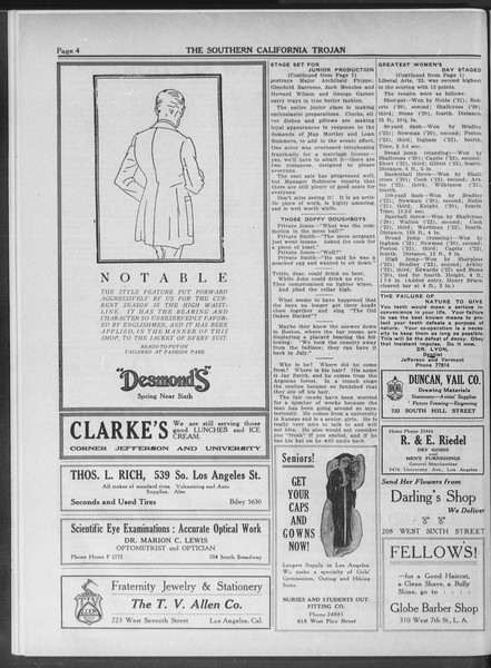 The Southern California Trojan, Vol. 10, No. 19, May 02, 1919
