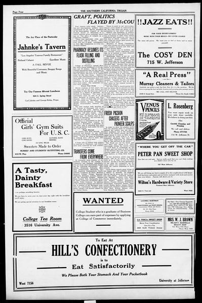 The Southern California Trojan, Vol. 13, No. 6, October 05, 1921