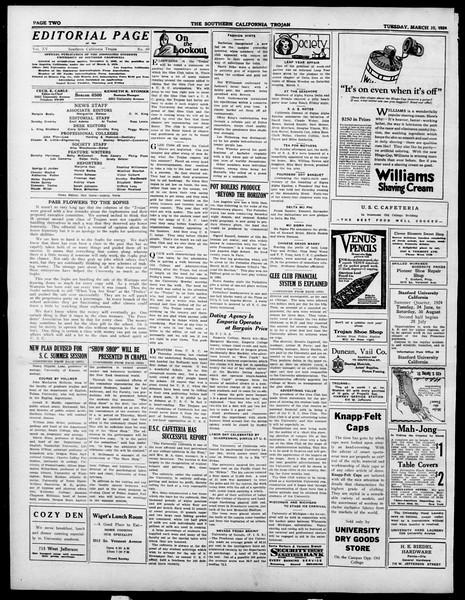 The Southern California Trojan, Vol. 15, No. 60, March 10, 1924