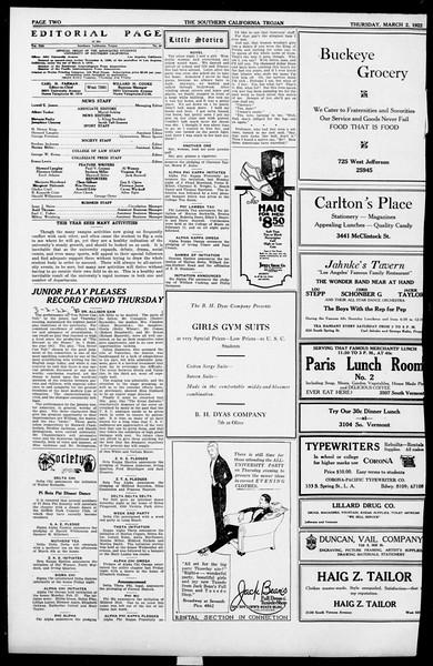 The Southern California Trojan, Vol. 13, No. 48, March 02, 1922