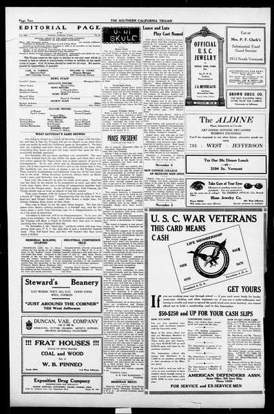 The Southern California Trojan, Vol. 13, No. 10, October 18, 1921