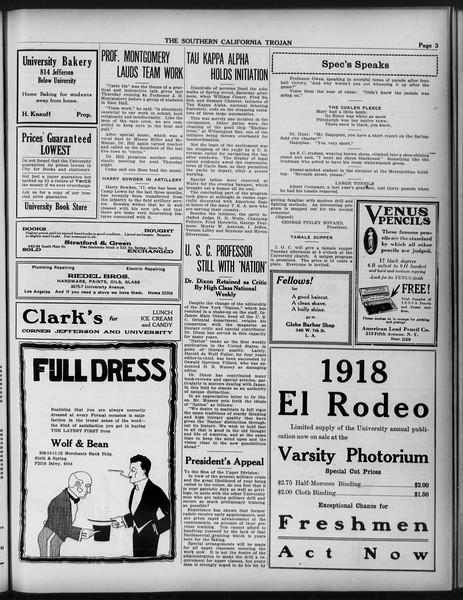 The Southern California Trojan, Vol. 9, No. 26, February 12, 1918