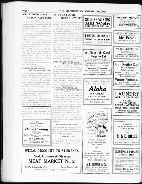 The Southern California Trojan, Vol. 8, No. 65, February 09, 1917
