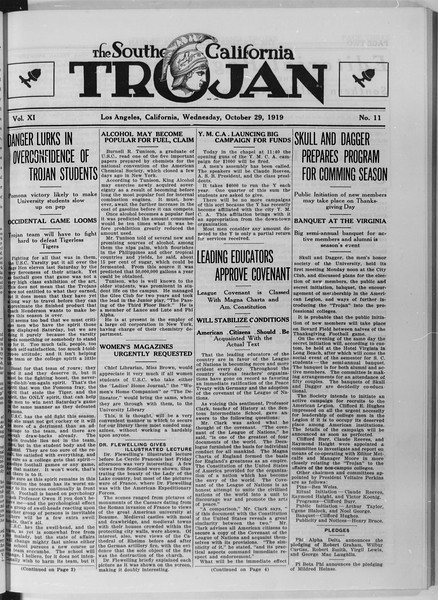 The Southern California Trojan, Vol. 11, No. 11, October 29, 1919