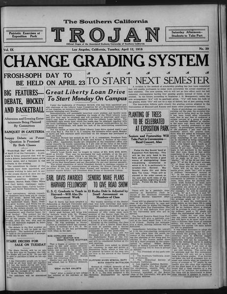 The Southern California Trojan, Vol. 9, No. 39, April 12, 1918