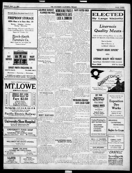 The Southern California Trojan, Vol. 14, No. 90, May 11, 1923