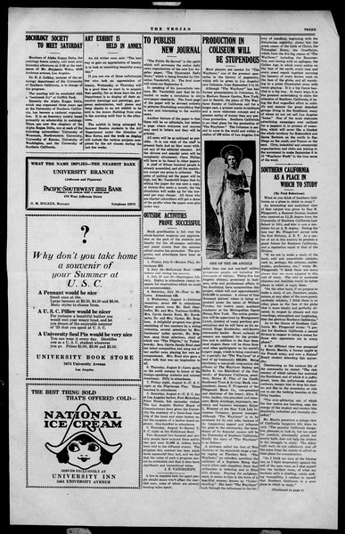 The Southern California Trojan, Vol. 2, No. 10, August 07, 1923