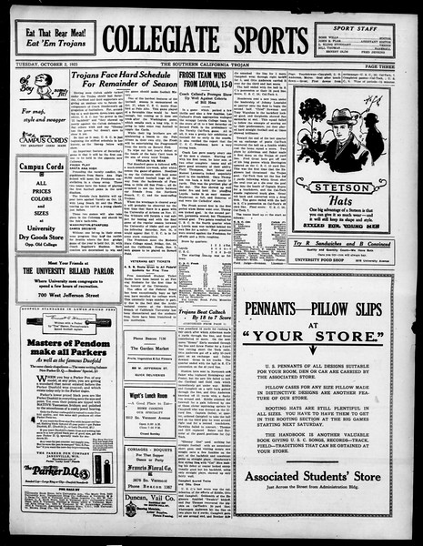 The Southern California Trojan, Vol. 15, No. 4, October 02, 1923