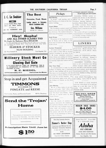 The Southern California Trojan, Vol. 8, No. 61, February 02, 1917