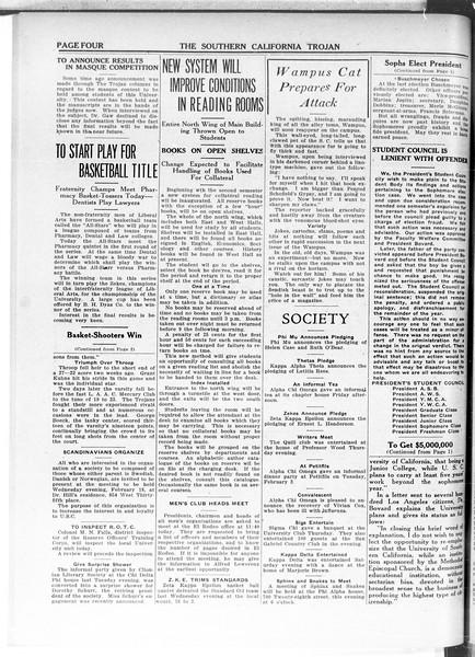The Southern California Trojan, Vol. 11, No. 54, February 17, 1920